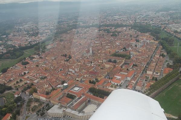 Prospettiva aerea di Lucca - www.luccacitta.net