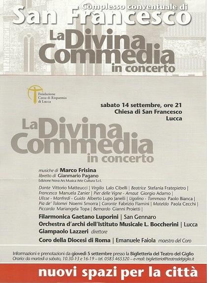 Locandina La Divina Commedia in Concerto