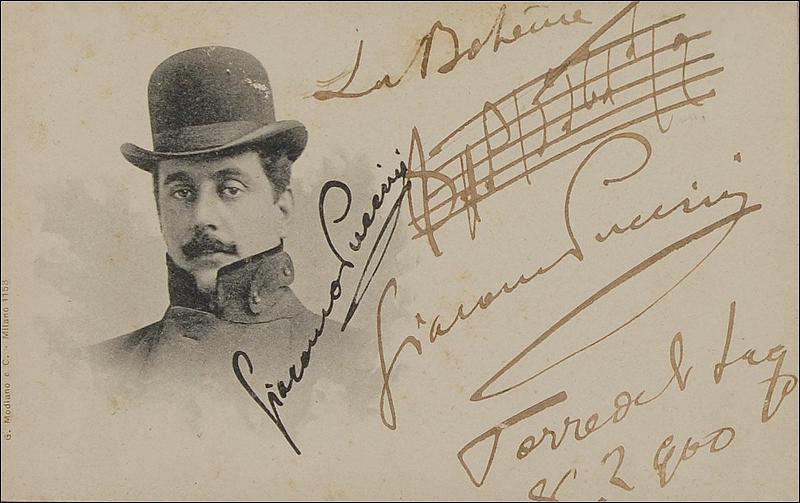Manoscritto Giacomo Puccini