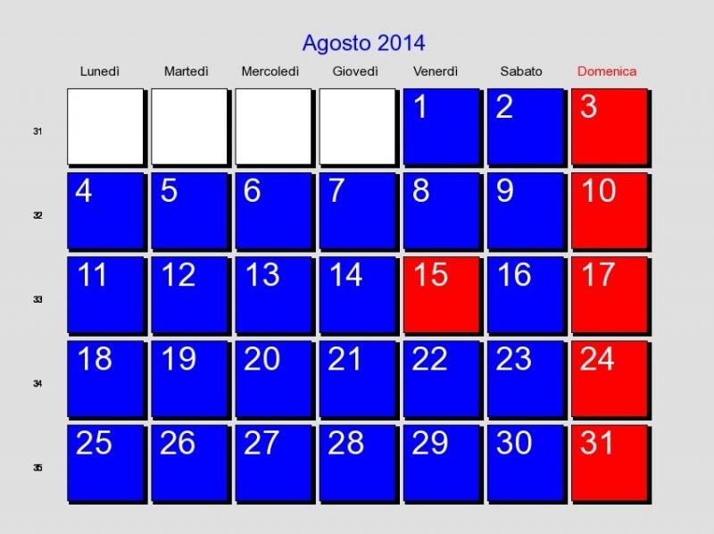 Calendario Maggio 2020.Agosto Forse Non Tutti Sanno Che