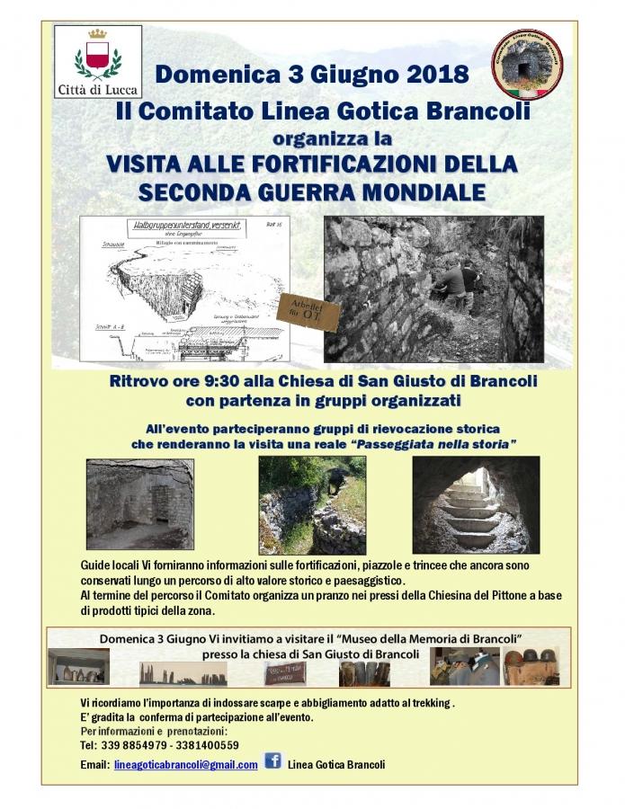 Volantino Linea Gotica Brancoli