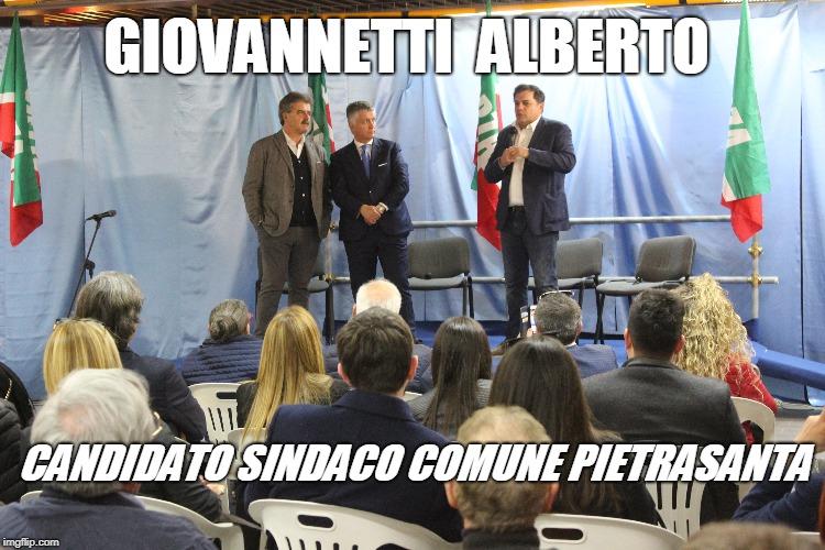 Giovannetti candidato Sindaco Pietrasanta