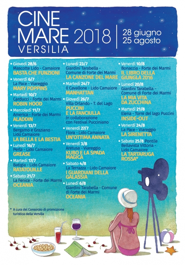 cinemare versilia 2018