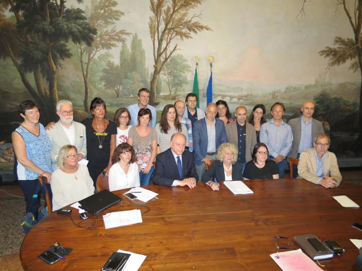 firma accordo RSA villa santa maria
