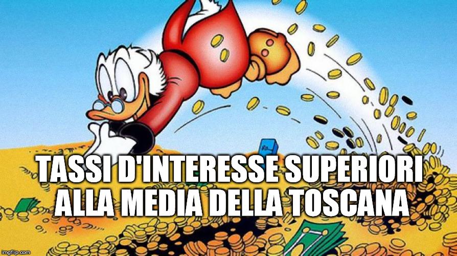 Tassi d'interesse alti a Lucca